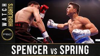 Spencer vs Spring - Watch Fight Highlights | January 18, 2020