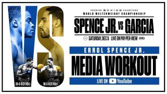 Spence vs Garcia: Errol Spence Jr. Media Workout