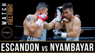 Escandon vs Nyambayar - Watch Video Highlights | May 26, 2018