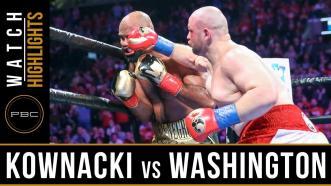 Kownacki vs Washington  - Watch Video Highlights | January 26, 2019