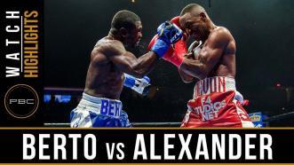 Berto vs Alexander - Watch Video Highlights | August 4, 2018