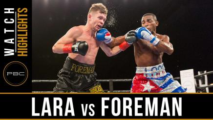 Lara vs Foreman highlights: January 13, 2017