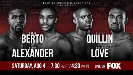 Berto vs Alexander and Quillin vs Love PREVIEW: August 4, 2018