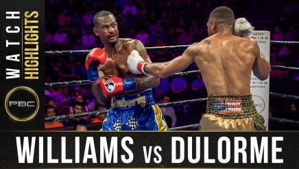 Williams vs Dulorme - Watch Fight Highlights | September 21, 2019