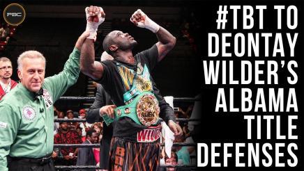 Deontay Wilder's Alabama Title Defenses