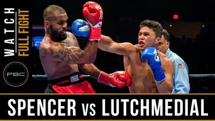 Spencer vs Lutchmedial Full Fight: August 4, 2018 - PBC on FOX
