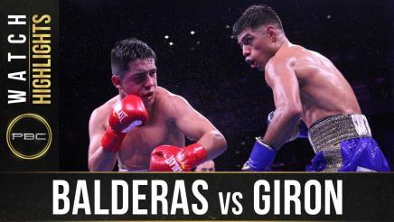 Balderas vs Giron - Watch Fight Highlights | December 21, 2019