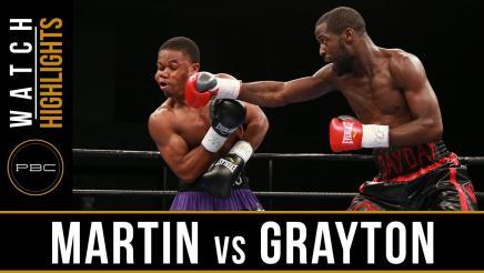 Martin vs Grayton highlights: August 23, 2016