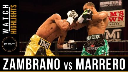 Zambrano vs Marrero HIGHLIGHTS: April 29, 2017