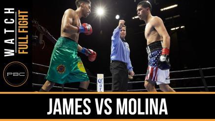 James vs Molina full fight: January 19, 2016