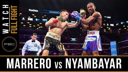 Marrero vs Nyambayar - Watch Video Highlights | January 26, 2019