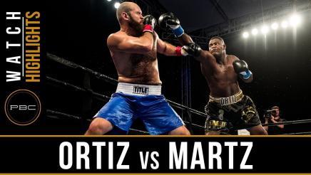 Ortiz vs Martz Highlights: December 8, 2017