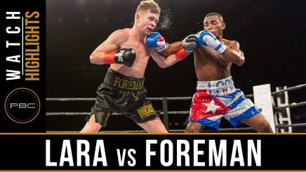 Lara vs Foreman highlights: January 13, 2017