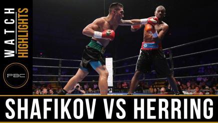 Shafikov vs Herring highlights: July 2, 2016