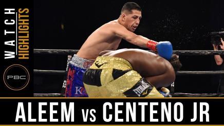 Aleem vs Centeno Jr. Highlights: August 25, 2017