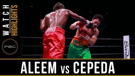 Aleem vs Cepeda highlights: April 19, 2016