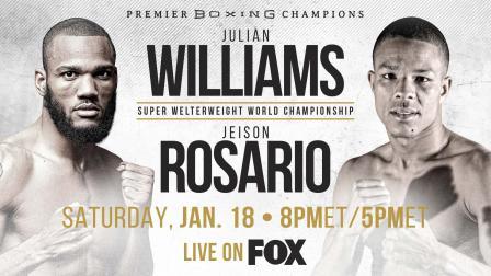 Williams vs Rosario PREVIEW: January 18, 2020   PBC on FOX