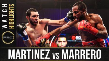 Martinez vs Marrero - Watch Fight Highlights | October 24, 2020