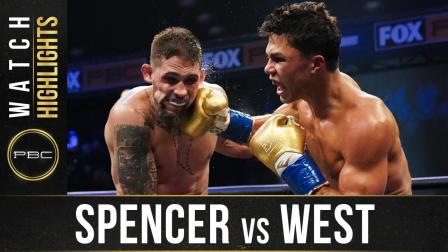 Spencer vs West - Watch Fight Highlights   August 22, 2020