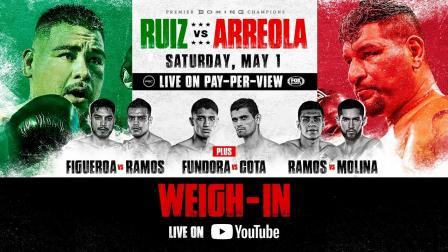 Ruiz vs Arreola Weigh in