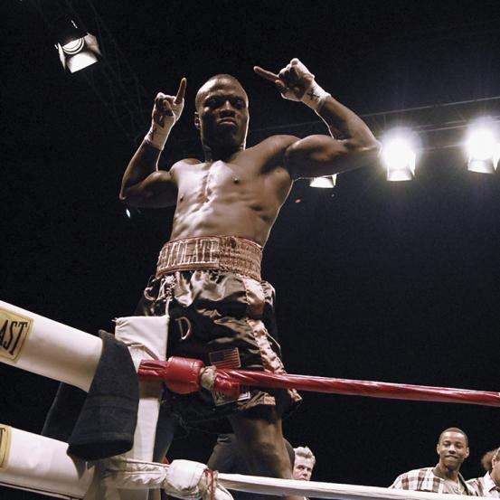 Peter Quillin celebrates an early victory